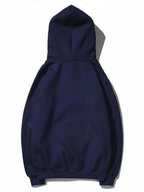 Sudadera con capucha del lazo del bolsillo Impreso carta - Cadetblue 2XL Mobile