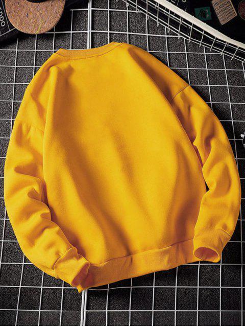 Carta del patrón gráfico ocasional de la camiseta - Amarillo Brillante L Mobile