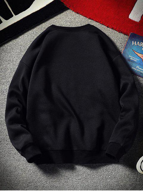 Carta del patrón gráfico ocasional de la camiseta - Negro L Mobile