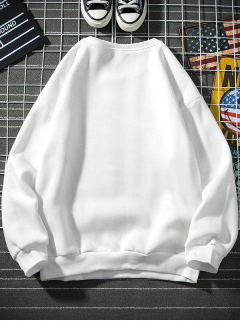 Carta del patrón gráfico ocasional de la camiseta - Blanco L Mobile