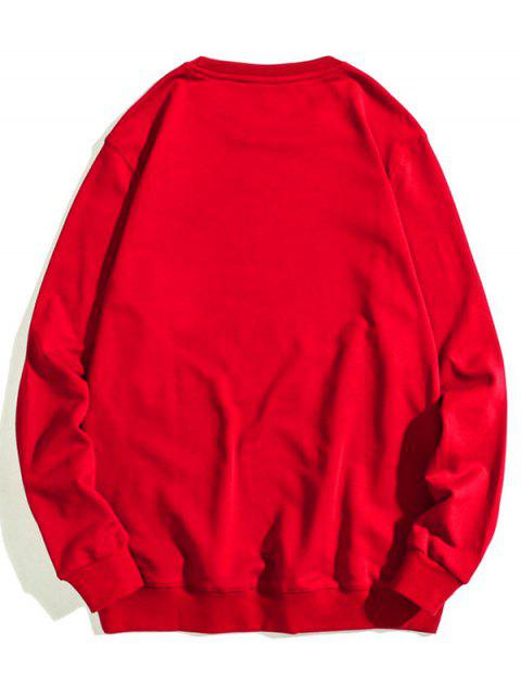 Sudadera CasualconEstampadodeLetra - Rojo Lava S Mobile