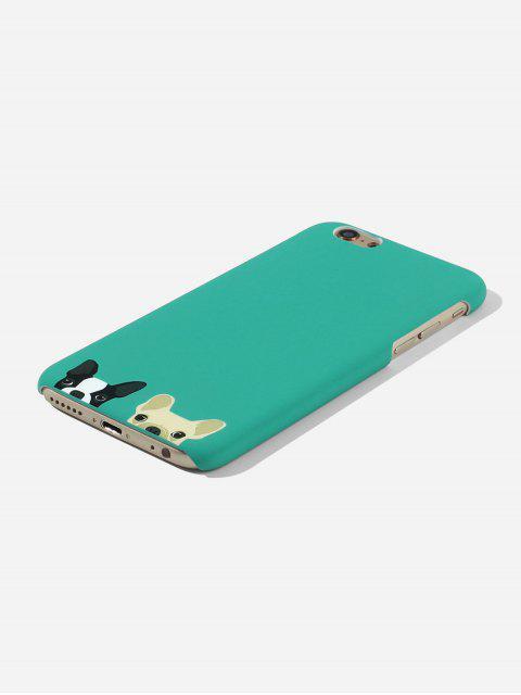 Cas de Téléphone Chien Dessin Animé pour IPhone - Vert Clair de Mer 6/6s Mobile