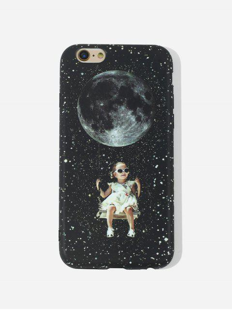 lady Girls Swing TPUPhone Case For IPhone - BLACK 6/6S Mobile