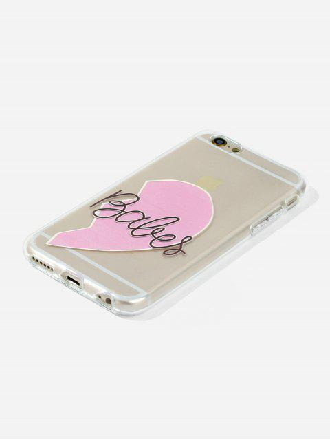 outfit Heart Transparent Phone Case For IPhone - PIG PINK 6/6S Mobile