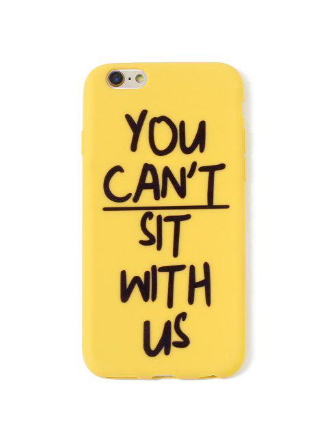 trendy Letter TPUPhone Case For IPhone - MUSTARD 6/6S Mobile