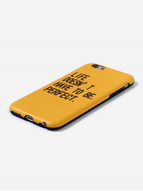 fashion Letters PrintPhone Case For IPhone - BRIGHT YELLOW 6/6S Mobile
