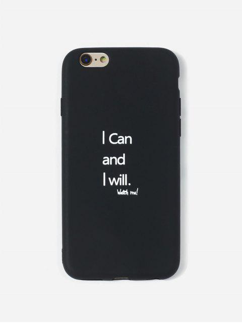 Cas de Téléphone Lettre Imprimée pour IPhone - Noir 6/6s Mobile