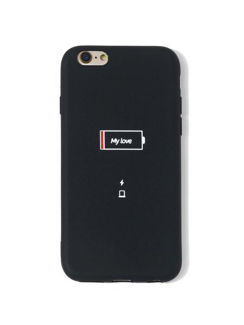 Cas de Téléphone Motif Batterie Faible pour IPhone - Noir 6/6s Mobile