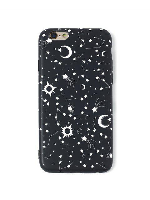 Cas de Téléphone Lune et Etoile pour IPhone - Noir 6/6s Mobile
