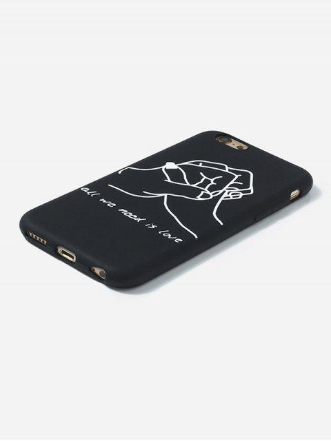 womens Hand Clasped TPUPhone Case For IPhone - BLACK 6/6S Mobile