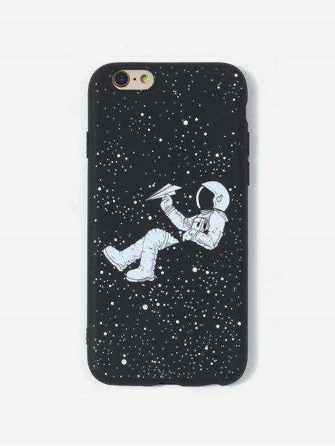 women Astronaut TPU Phone Case For IPhone - BLACK 6/6S Mobile