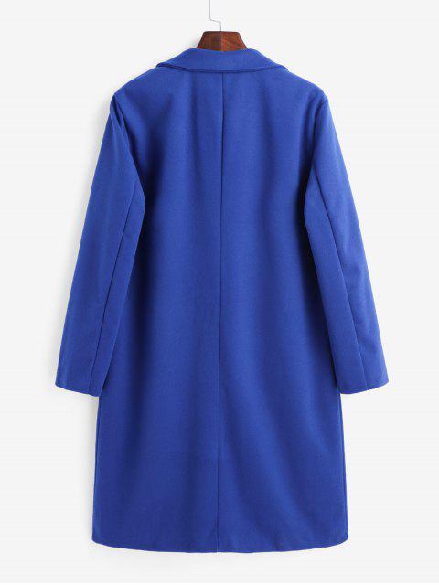 Manteau Trench à Double Boutonnage avec Poche - Bleu M Mobile