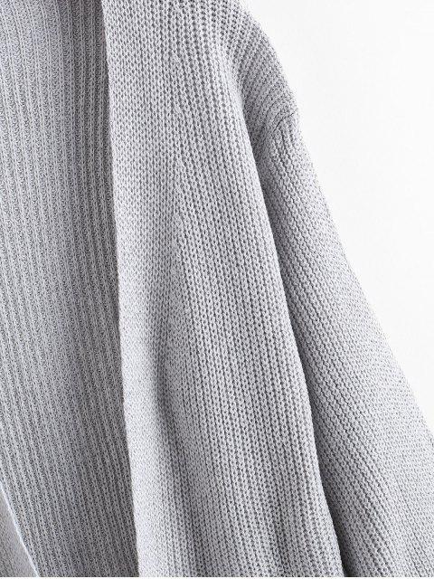 延繩釣開放前狹縫夾層口袋外套 - 灰色 One Size Mobile