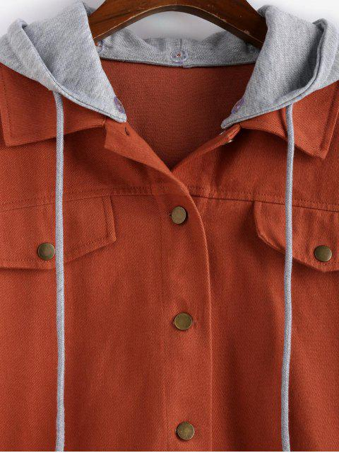 ZAFUL Tropfen Schulter abnehmbare Kapuze mit Kordelzug Jacke - Multi-B XL Mobile