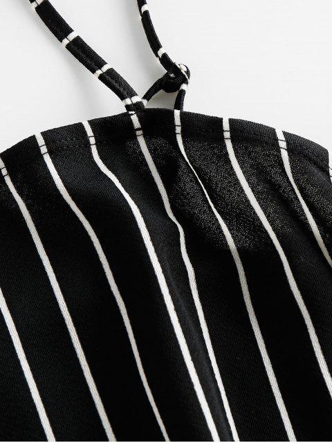ZAFUL Vestido Ajustado de Camuflaje a Rayas - Negro S Mobile