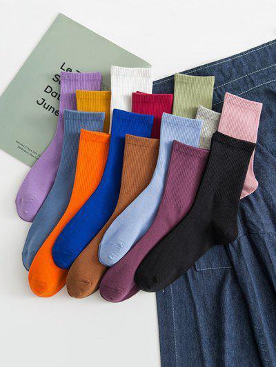 14 Pairs Solid Sports Socks Set