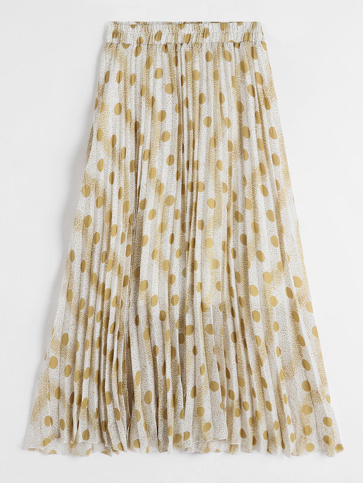 Polka Dot High Waist Pleated Skirt thumbnail