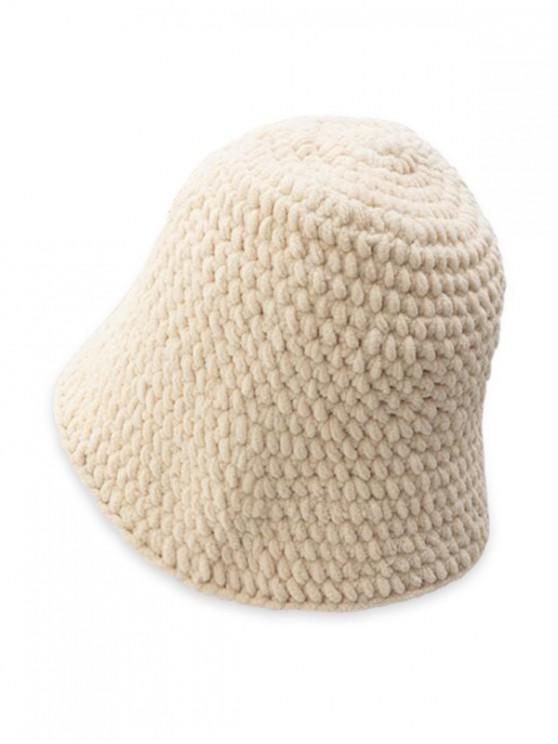 Solid Cable Color Tricotate Hat - Bej