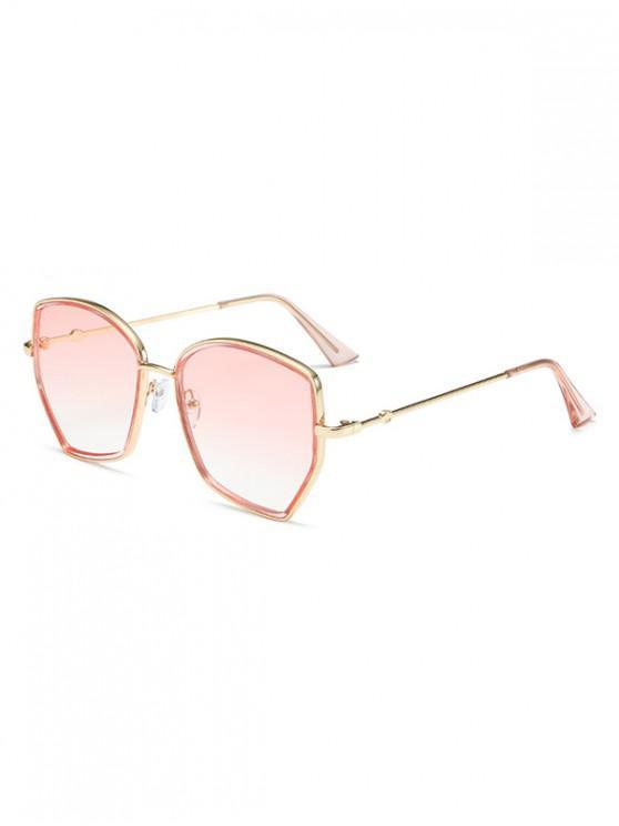 shops Irregular Gradient Metal Sunglasses - PIG PINK