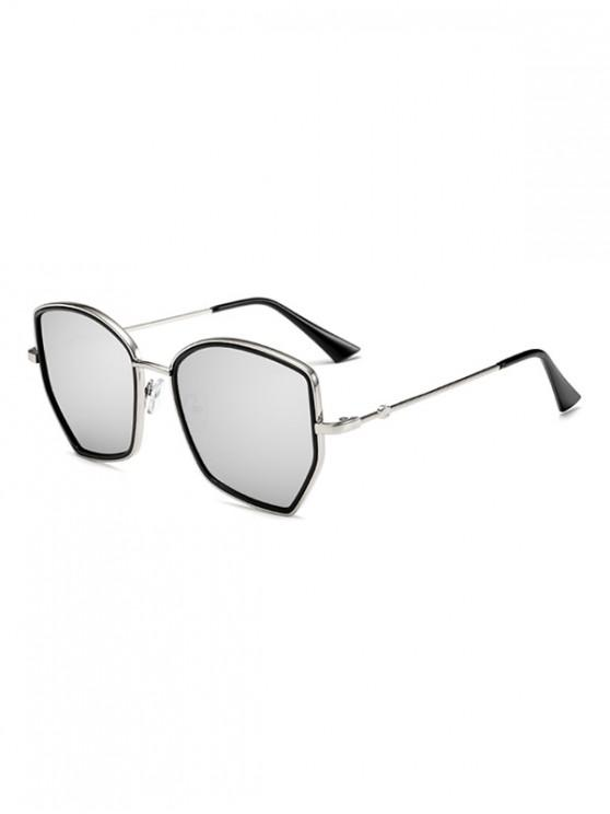 latest Irregular Gradient Metal Sunglasses - COOL WHITE