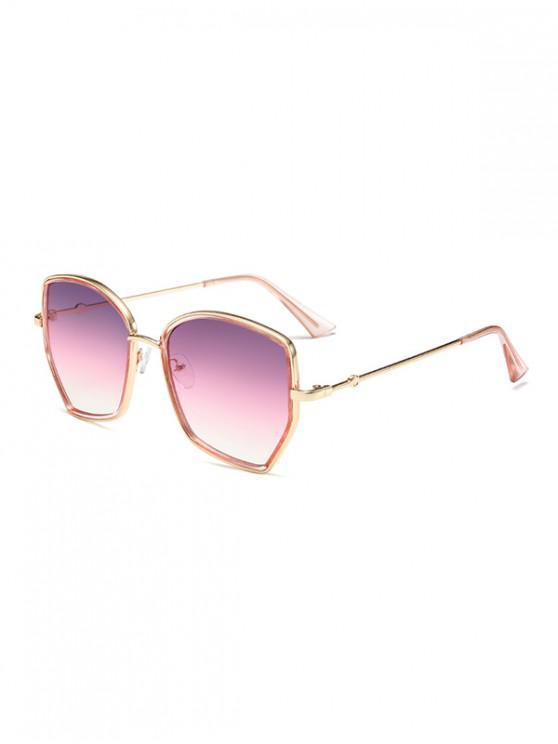 fashion Irregular Gradient Metal Sunglasses - TYRIAN PURPLE