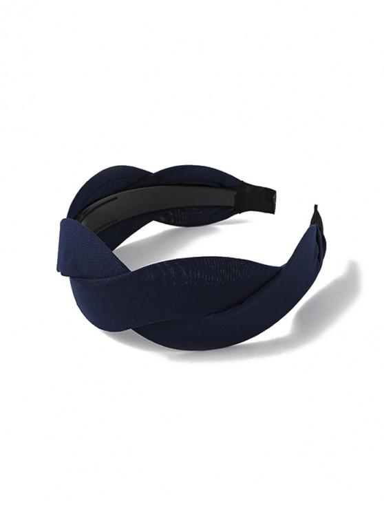 shop Twist Solid Fabric Wide Hairband - CADETBLUE