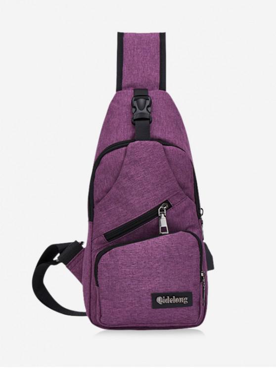 buy Crossbody Casual Oxford Single Shoulder Bag - MAROON