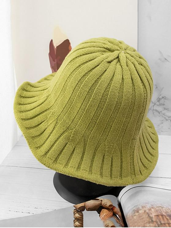 ladies Retro Knitted Bucket Hat - PISTACHIO GREEN
