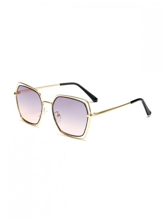outfits Hollow Irregular Metal Ombre Sunglasses - MULTI-A