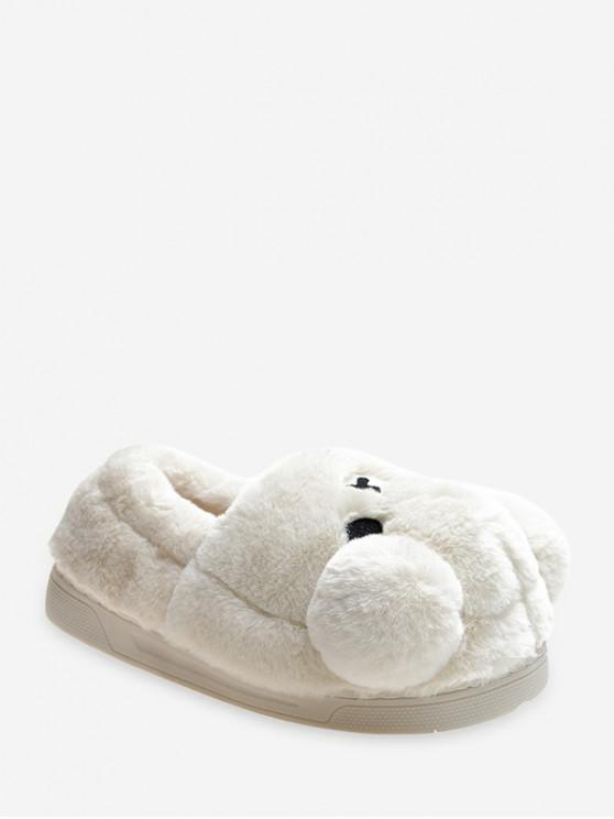 lady Cute Bear Design Slip On Plush Shoes - BEIGE EU 37