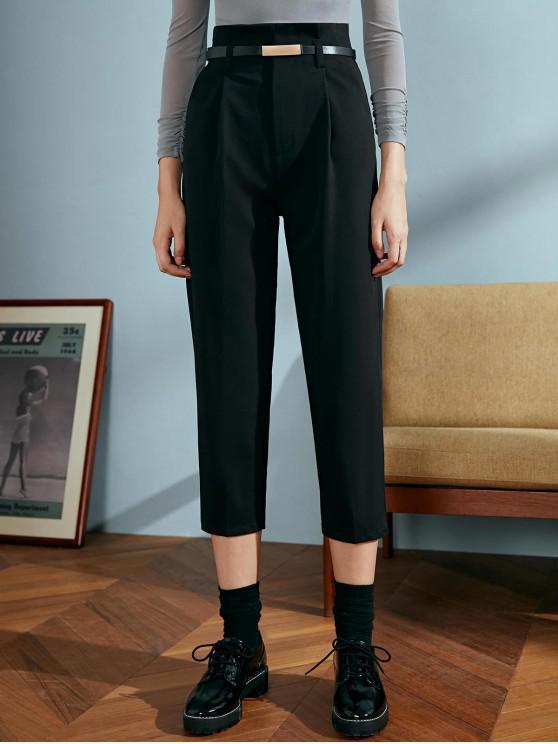 womens OL Paperbag Pants - BLACK L