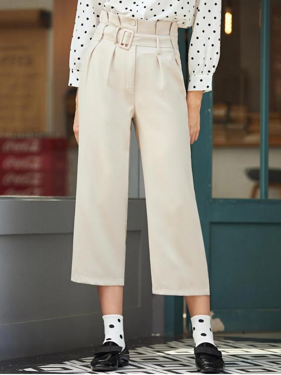 Pantaloni al IX-lea Paperbag - Lumina Khaki M