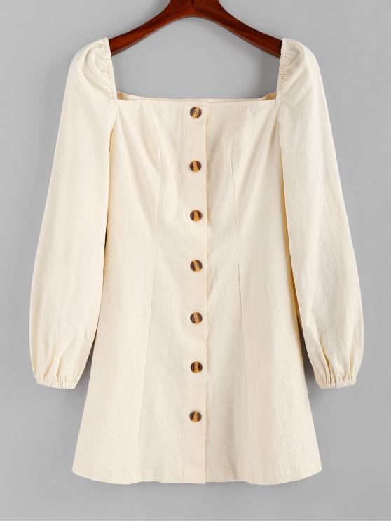ZAFUL Square Collar Camicia button-down Lattaia - Albicocca XL