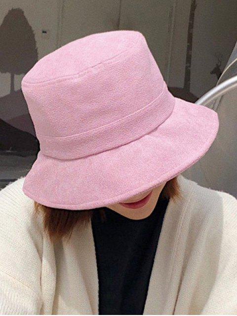 buy Winter Solid Fabric Bucket Hat - MAUVE  Mobile
