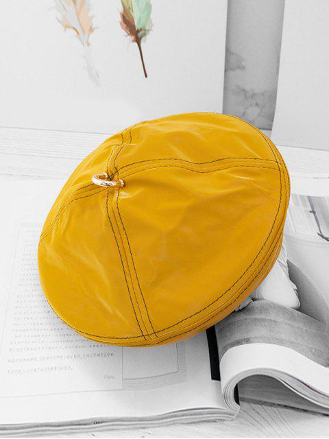 outfit Solid Ring Decorate Beret Hat - GOLDEN BROWN  Mobile