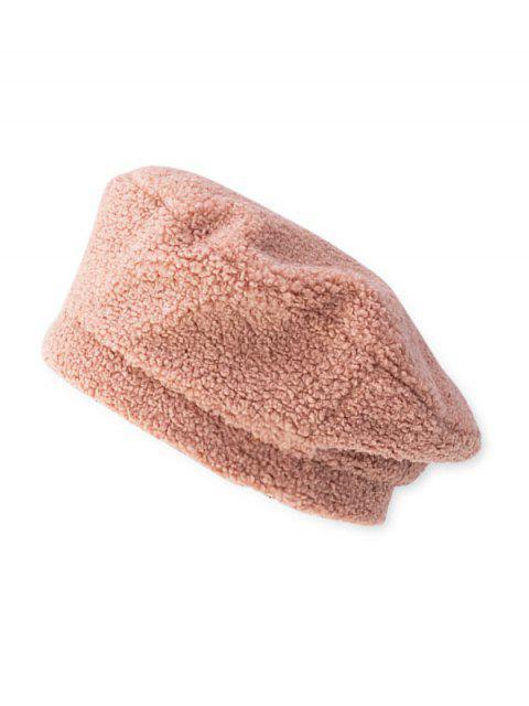 Овечья шерсть Одноцветная Шляпа Берет - Розовый  Mobile