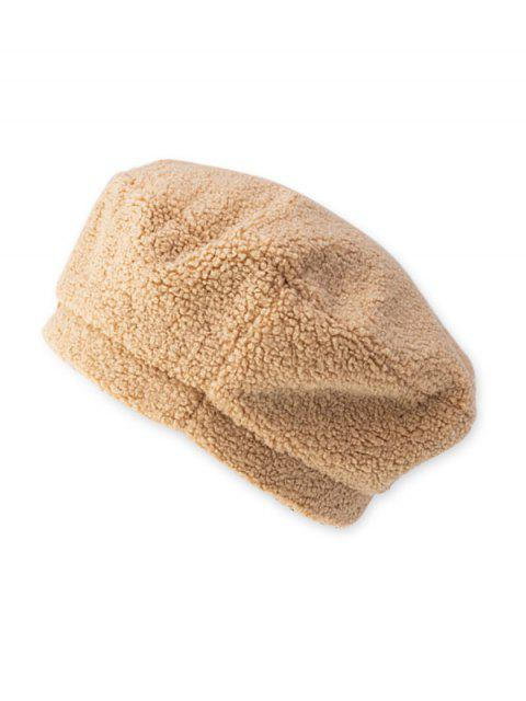outfits Solid Lamb Wool Beret Hat - BEIGE  Mobile