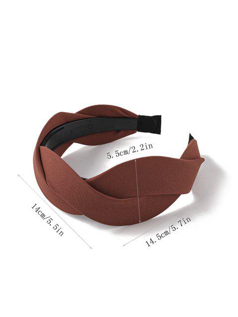shops Twist Solid Fabric Wide Hairband - CARAMEL  Mobile