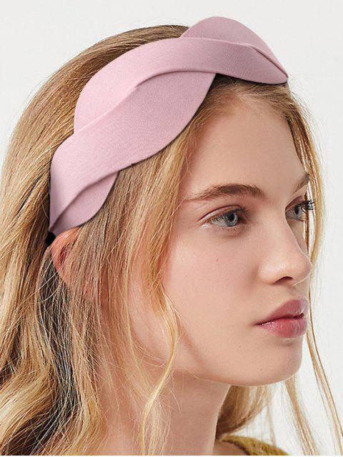 new Twist Solid Fabric Wide Hairband - PINK  Mobile