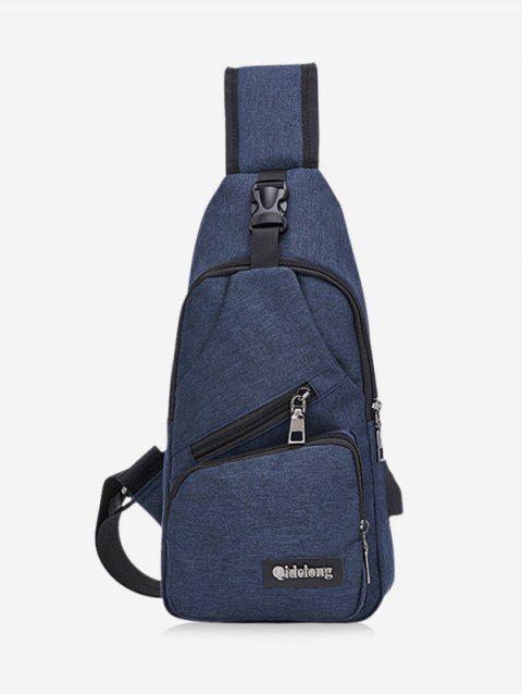 Bolso ocasional del hombro crossbody Oxford individual - Azul de Pizarra Oscuro  Mobile