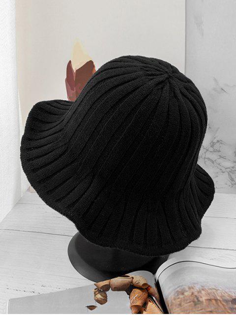 Ретро Вязаная Шляпа-ведро - Чёрный  Mobile