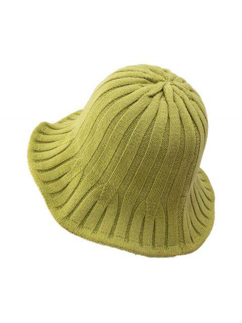 ladies Retro Knitted Bucket Hat - PISTACHIO GREEN  Mobile
