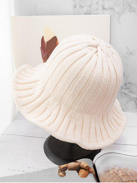outfit Retro Knitted Bucket Hat - BEIGE  Mobile