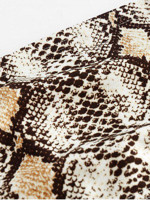ZAFUL Robe Bandeau Peau de Serpent en Velours Deux Pièces - Multi-B M Mobile