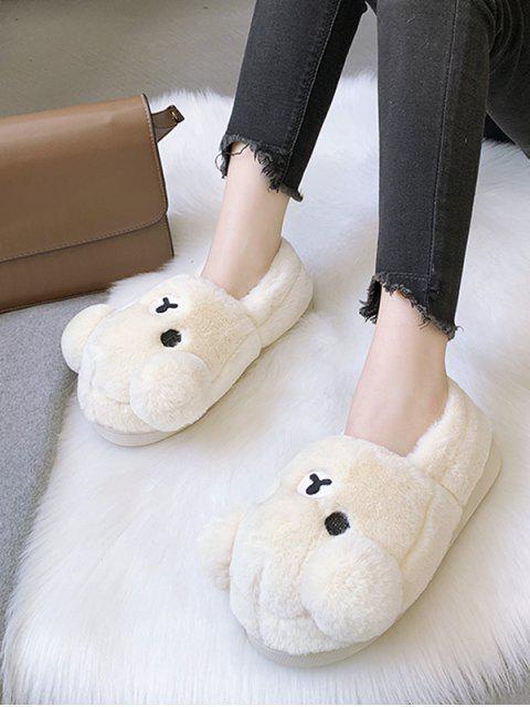 Дизайн медведя Без шнуровки Пушистые Туфли - Бежевый ЕС 37 Mobile