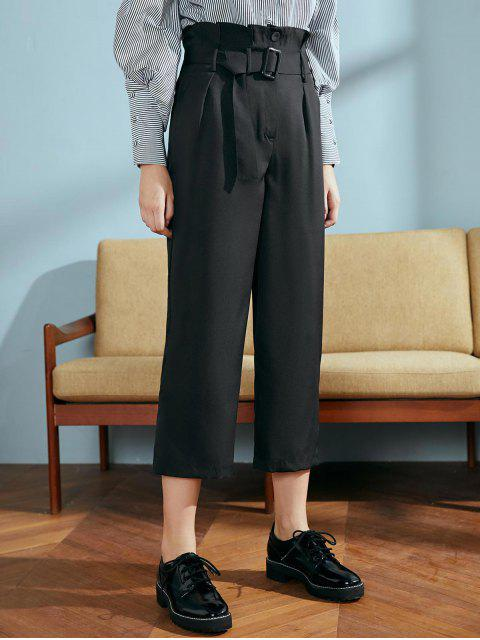 Pantalones novena paperbag - Negro M Mobile
