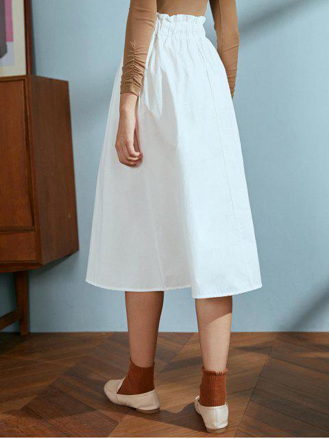 Cordón de algodón una falda de línea - Blanco Talla única Mobile