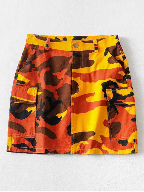 Los bolsillos de camuflaje mini una línea Falda - ACU Camuflaje S Mobile