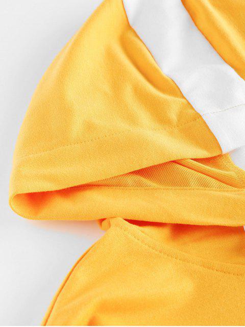 ZAFUL Crop Top und Hose Set - Helles Gelb M Mobile