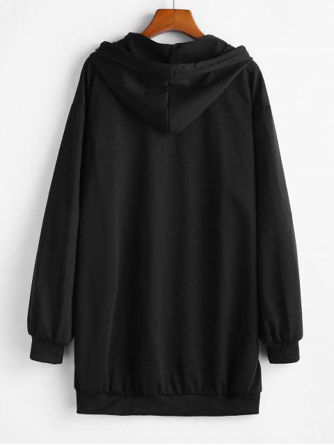 中國文化飛龍平面外套套衫帽衫 - 黑色 XL Mobile